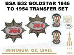 BSA B32 1946 to 1954 Transfers Decal Set